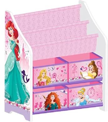 Delta Children Disney Princess Book and Toy Organiser