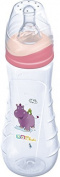 OKT Kids Baby Bottle Standard 250 ml Baby Silicone teat bottle ab 1.Tag Pink Hippo