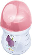 OKT Kids Near natural Bottle 250 ml Hippo pink from 0 months anatomical Baby Bottle Anti Colic