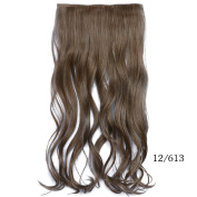 Beauty-Emily 60cm /120G Hairpiece Silky Wave Curled Clip Diverse Colour Spiral Scrunchie Hair Extensions,Colour #12/613