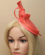 Allsorts® Large Coral Hat Fascinator Aliceband Headband Royal Ascot Ladies Day