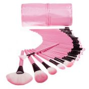 LA HAUTE 32 Pcs Professional Cosmetic Makeup Brush Set Kit with Synthetic Leather Case