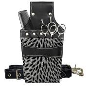 Kassaki Hairdressing Scissor Holster Pouch Bag Silver Sparkle