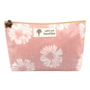 Korean Style Cosmetic Bag Makeup Storage Bag Wash Bag Beauty Case Flower Pink