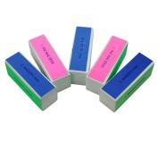 Sanwood 5 Pcs Nail Art Manicure Shiner Buffer Buffing Block Sanding File