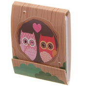Owl Always Love You Design Nail File Emery Board Matchbook (Brown) by Pukator