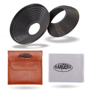 Rangers 18pcs Ultra-thin Camera Lens Filter Step-up Rings 37mm-82mm & Step-down Rings 82mm-37mm Set + PVC Pouch + Cleaning Cloth RA034