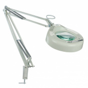 Lite Source LSM-180WHT Magnify-Lite Magnifying Lamp with White Metal Shade, White