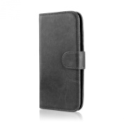 32nd® Book PU Leather Wallet Case Cover for Microsoft Lumia 650, including touch stylus - Black
