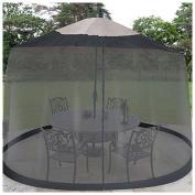 Jobar 23cm Black Umbrella Table Screen