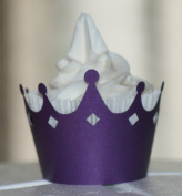 All About Details Shimmer Purple Crown Cupcake Wrappers, Set of 12