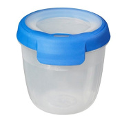 Curver 00019-082-00 Round Container New Grand Chef, 0.4 L transparent / Blue