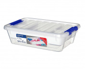 Sistema 1.7 Litre Plastic Storage Container with Tray, Clear