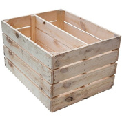 Solid New Box as Shoe and Bookcase - Fruit box, New + Natural