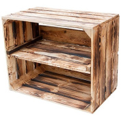 Solid flammed Box as Shoe and Bookcase - Fruit box, New + Natural