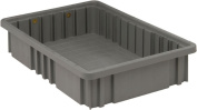 Quantum Storage Systems DG92035GY Dividable Grid Container 42cm Long by 28cm Wide by 8.9cm High, Grey, 12-Pack