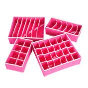 Sanwood 4Pcs Underwear Socks Tie Bra Glove Organiser Storage Box Container