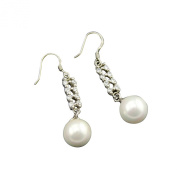 Jade Angel Fashion 925 Silver White 10mm Shell Pearl Earrings Colour White