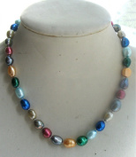 Natural Freshwater Baroque Multicolour Pearl Necklace