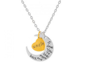 "Glitz Fashion Cresent Moon Pendant Necklace ""I Love You to The Moon and Back""Uncle"