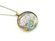 Pakistan map chain necklace silver bronze best Christmas gift