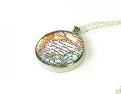 Afghanistan map chain necklace silver bronze best Christmas gift