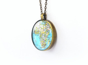 Africa chain necklace silver jewellery love gift for her