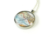 Istanbul map necklace - Constantinople necklace