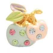 Cyllene Fantaisie - Fantasy - Apple Brooch - Multicolor