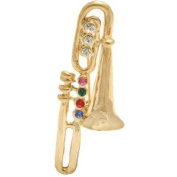 Cyllene Fantaisie - TROMBONE Brooch Pin Multicoloured