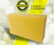 6pcs Gift Wrapped Natural Hand Made Soap Bars - Citrus Lavender - 120ml