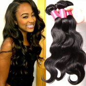 Beauty Forever Hair 6a Brazilian Weave Virgin Hair Body Wave Weft 4 Bundles 100% Unprocessed Human Hair Extensions Natural Colour (100+/-5g)/pc
