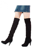 Zeagoo New Fashion Women Thigh Over Knee Stretchy Shoes Boots High Heel