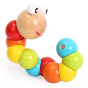 Multicolour Magical Twisting Caterpillar Child Kids Baby Toys Train Baby Fingers Flexibility Learning Educational Wood Toys