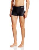 Speedo Men's Placement Curve Panel Print 33 Aqua Shorts