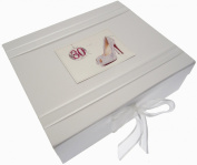 White Cotton Cards 30th Birthday Keepsake Box Glitter Ball and Shoes