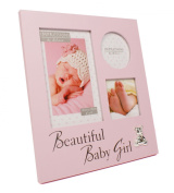 Baby Girl Multi Photo Frame New Born Christening Gift Present