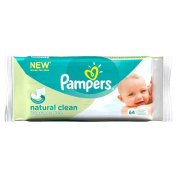 Pampers Natural Clean Fragrance Free Baby Wipes