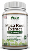 Maca Root Capsules 2500mg by Nu U, 180 Capsules (6 Month's Supply). Maca Root Extract is Said to Help Balance Hormones, Aid Sexual Function, Increase Energy, Improve Mood and Aid Menstrual Issues