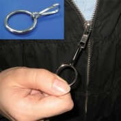 Ring Zipper Pull Making Zip Up Easier Simple large loop attaches to zipper tab
