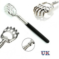 Portable Bear Claw Telescopic Stainless Back Scratcher Rubber Grip