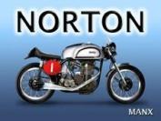 FRENCH VINTAGE METAL SIGN 40x30cm NORTON MANX MOTO