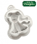 Dog Silicone Mould Katy Sue Designs Sugar Buttons for Clay, Cake Decorating and Sugarcraft