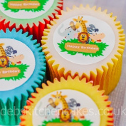 Jungle Safari Cupcake Toppers - 4cm x 24 - Edible Wafer
