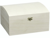 KnorrPrandell 22.5 x 18.5 x 11.5 cm FSC Wooden Treasure Chest, Natural