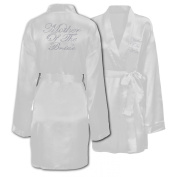 Wedding Day Rhinestone Satin White Mother Of The Bride Personalised Honeymoon dressing gown