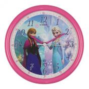 Disney Frozen Elsa and Anna Pink Time Teacher 26cm Quartz Wall Clock