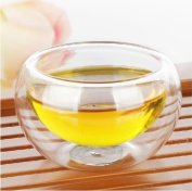 50ml Double Walled Clear Glass Borosilicate Tea/Espresso Cup Coffee