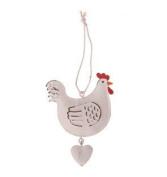 RJB Stone Tin Chicken & Heart Hanging Decoration RJBBCA182