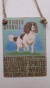 Retro Mini Metal Springer Spaniel Dog Sign Hanging Decoration 6.5x9cm
